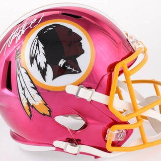 Adrian Peterson Signed Redskins Full-Size Chrome Speed Helmet (Beckett COA)