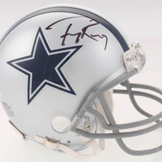 5c7f266b10c Tony Romo Signed Dallas Cowboys Mini Helmet (Beckett COA) – Current sales –  Barnebys.com