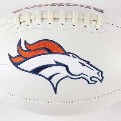 """Jake Plummer Signed Denver Broncos Logo Football Inscribed """"Snake"""""""