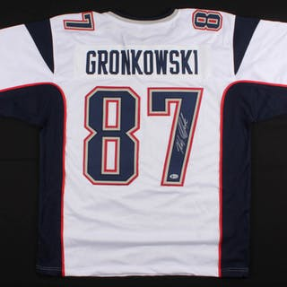 31009daa4 Rob Gronkowski Signed Patriots Jersey (Beckett COA) – Current sales –  Barnebys.com