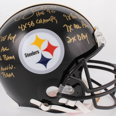 Jack Lambert Signed Pittsburgh Steelers Full-Size Authentic On-Field