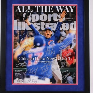 2016 Chicago Cubs World Series 20x24 Custom Framed Limited Edition