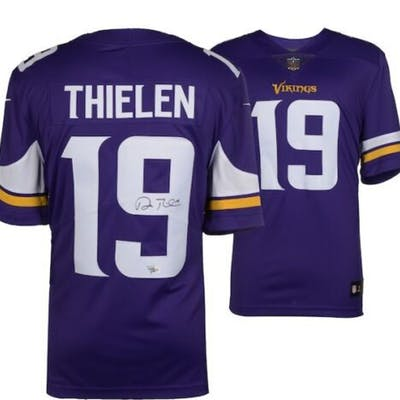 best sneakers a9800 a5d42 Adam Thielen Signed Vikings Nike Jersey (Fanatics Hologram ...