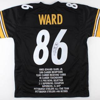 huge discount 5e9f4 9c7dd Hines Ward Signed Steelers Career Highlight Stat Jersey (JSA ...
