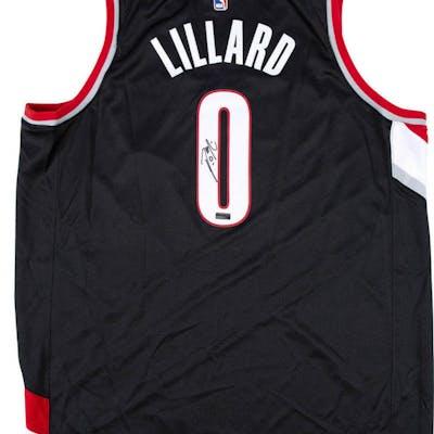the latest 67b56 03de9 Damian Lillard Signed Trail Blazers Nike Jersey (Panini COA ...