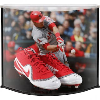 26763931dbb Mike Trout Signed LE Nike Force Zoom Trout 4 Cleats Inscribed