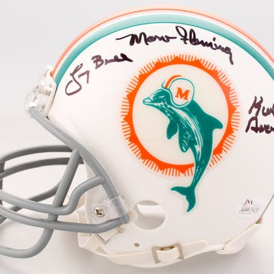 1972 Miami Dolphins Mini Helmet Team-Signed by (7) with Otto Stowe