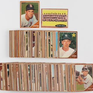 Lot Of 193 1962 Topps Baseball Cards With 579 Jim