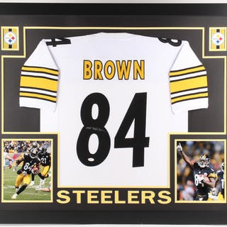 Antonio Brown Signed Steelers 35x43 Custom Framed Jersey (JSA COA) –  Current sales – Barnebys.com 903a5de2e