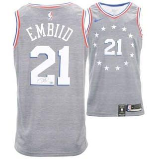 5e59ea204a5 Joel Embiid Signed 76ers Nike City Edition Jersey (Fanatics Hologram)