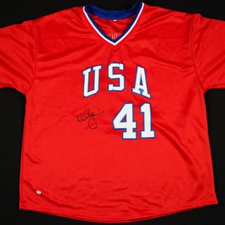 ba0a3cea9c9 Mark McGwire Signed Team USA Jersey (Online Authentics Hologram)