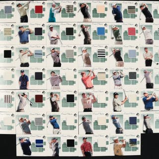 2002 SP Authentic Course Classics Game-Used Shirt Near-Complete Set