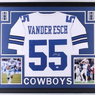 3a517ab6 Leighton Vander Esch Signed Dallas Cowboys 35x43 Custom Framed Jersey (JSA  COA)