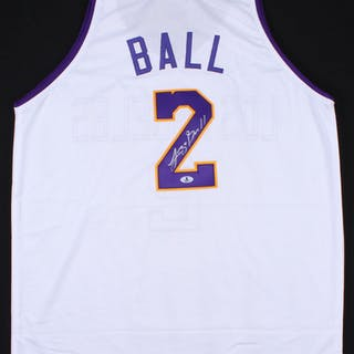low priced 7231c 16c29 Lonzo Ball Signed Lakers Jersey (Beckett COA) – Current ...