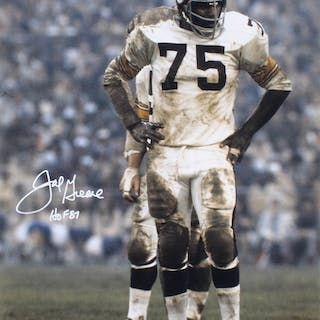 5155d575c Joe Greene Signed Pittsburgh Steelers 16x20 Photo Inscribed