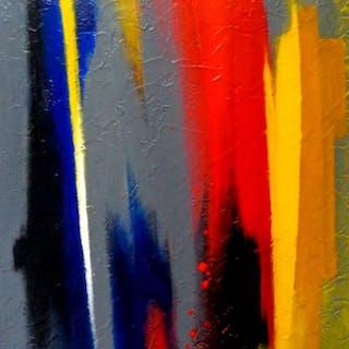 "Jose Alvarez Signed ""Nuance"" 20x27 Original Acrylic Painting on Canvas (PA LOA)"