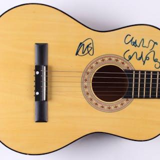 Chris Martin & Will Champion Signed Full-Size Acoustic Guitar (Beckett COA)