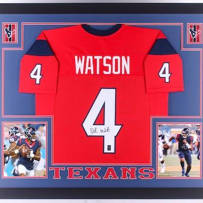 Deshaun Watson Signed 35x43 Custom Framed Jersey (JSA COA & Watson Hologram)