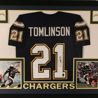 7ffc594d LaDainian Tomlinson Signed Los Angeles Chargers 35x43 Custom Framed