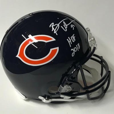 Brian Urlacher Signed Chicago Bears Full-Size Authentic On-Field Helmet
