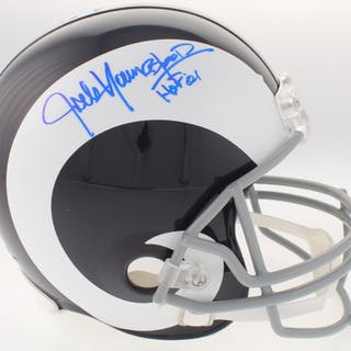 514c98dbd Jack Youngblood Signed Rams Throwback Full-Size Helmet Inscribed