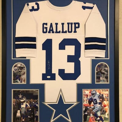 the best attitude 213a6 e776d Michael Gallup Signed Dallas Cowboys 34x42 Custom Framed ...