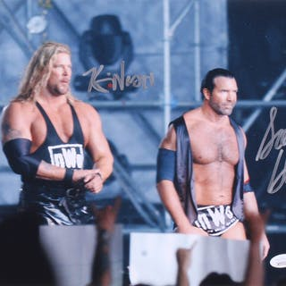 Kevin Nash & Scott Hall Signed WWE 11x14 Photo (JSA COA)