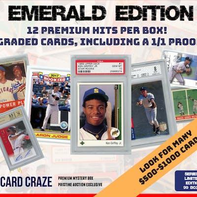 The Card Craze Emerald Edition Premium Baseball Card Mystery Box