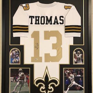 506dfd835 Michael Thomas Signed New Orleans Saints 34x42 Custom Framed Jersey –  Current sales – Barnebys.com