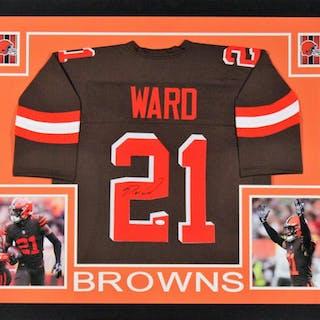 Denzel Ward Signed Cleveland Browns 35x43 Custom Framed Jersey Display –  Current sales – Barnebys.com ea4032820
