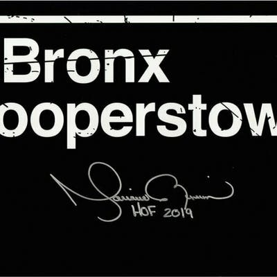 """Mariano Rivera Signed """"The Bronx to Cooperstown"""" 10x20 Photo Inscribed"""