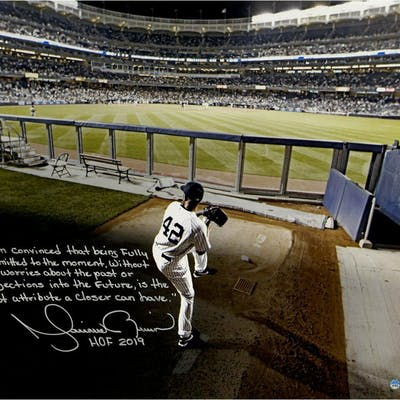 "Mariano Rivera Signed New York Yankees ""Warming Up in the Bullpen"""