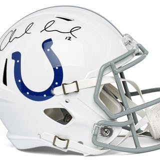 dcd23a38e82 Andrew Luck Signed Indianapolis Colts Full-Size Speed Helmet (Panini COA) –  Current sales – Barnebys.com