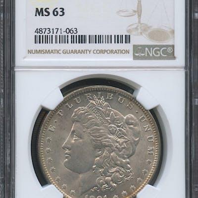 1891-O $1 Morgan Silver Dollar (NGC MS 63)