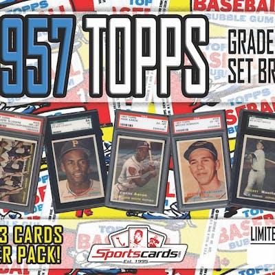 1957 TOPPS BASEBALL GRADED SET BREAK! - Mystery Box - (2 or 3) GRADED