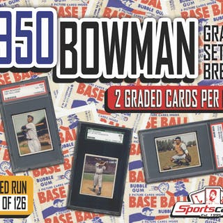 1950 BOWMAN BASEBALL COMPLETE SET BREAK! - Mystery Box - (2) GRADED