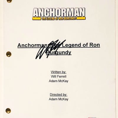 """Will Ferrell Signed """"Anchorman: The Legend of Ron Burgundy"""" Full Movie"""
