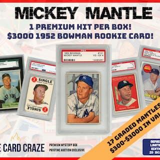 The Card Craze Mickey Mantle Premium Baseball Card Mystery Box 1