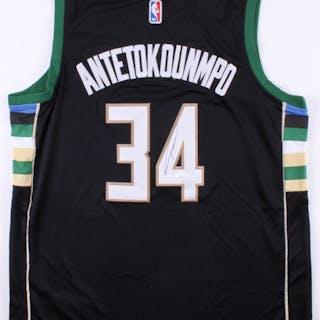 759052ef7 Giannis Antetokounmpo Signed Milwaukee Bucks Nike Jersey (JSA COA) –  Current sales – Barnebys.co.uk
