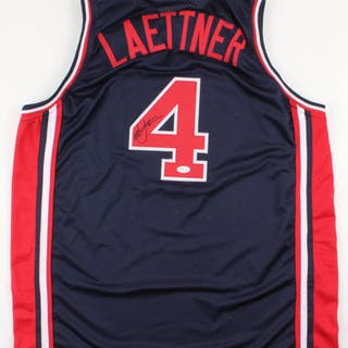 175eabf4554 Christian Laettner Signed Team USA Jersey (JSA COA) – Current sales –  Barnebys.com