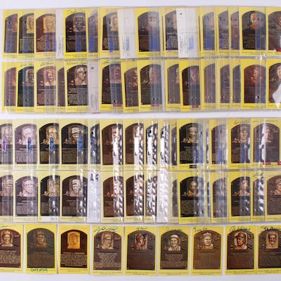 Lot of (291) Hall of Fame Plaque Postcards Including (72) Signed WIth