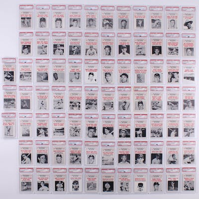 Complete Set Of 80 1961 Nu Card Scoops Baseball Cards With