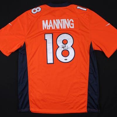 Peyton Manning Signed Denver Broncos Nike Jersey (Steiner COA)
