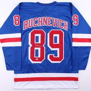 brand new c9c5d 88ac3 Pavel Buchnevich Signed New York Rangers Jersey (Beckett COA ...