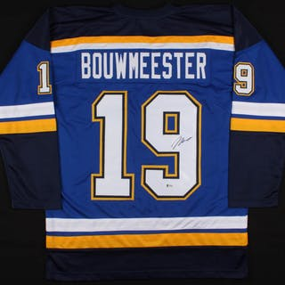 Jay Bouwmeester Signed St Louis Blues Jersey Beckett Coa Cur S Barnebys