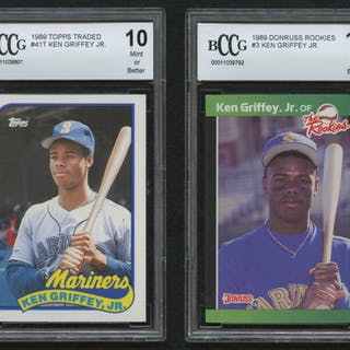 Lot Of 2 Beckett Bccg Graded 10 Ken Griffey Jr Baseball