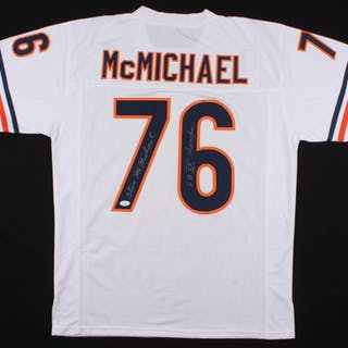 38ad94d059b Steve McMichael Signed Chicago Bears Jersey Inscribed