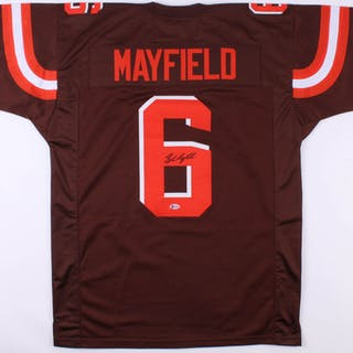 separation shoes e6c43 87c00 Baker Mayfield Signed Cleveland Browns Jersey (Beckett COA ...