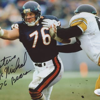 69310b751e8 Steve McMichael Signed Chicago Bears 8x10 Photo Inscribed