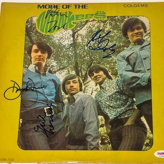 """""""More of the Monkees"""" Vinyl Album Cover Signed by (4) With Peter Tork"""